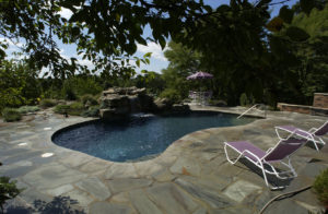 Pugliese Pools Traditional pool custom landscaping