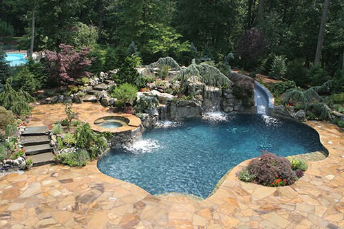 Pugliese natural look pool pugliese pools Natural swimming pool builders